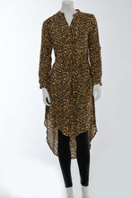 Load image into Gallery viewer, Leopard print shirt dress