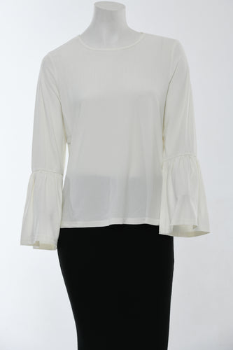 White top with bell sleeves