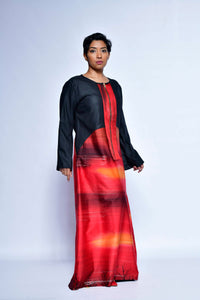 Luxury Silk Satin Abaya Siluet Maxi Dress