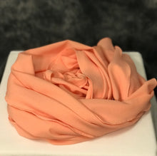 Load image into Gallery viewer, Peach Scarf (Georgette Silk)