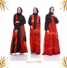 Load image into Gallery viewer, Luxury Silk Satin Abaya Purnama Maxi Dress