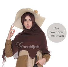 "Load image into Gallery viewer, Chocolate ""Innovee Scarf"" 100% Cotton"