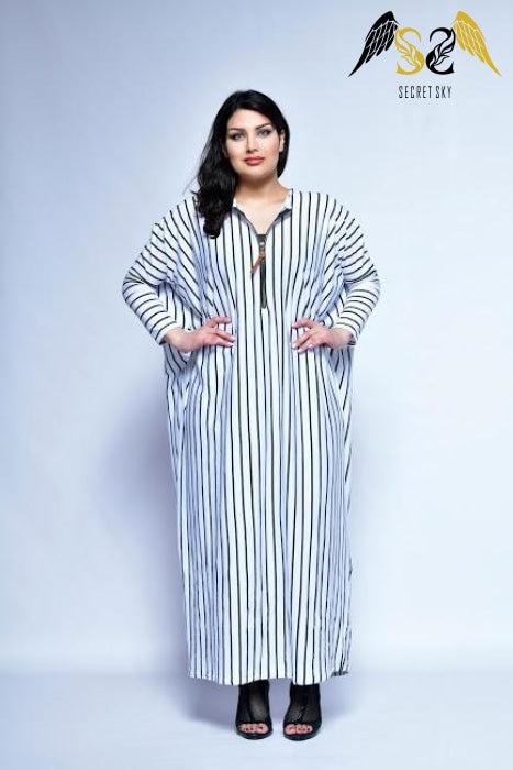 Vertical Stripe Maxi Dress