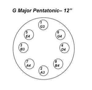 Nataraj Tongue Drum G Major Pentatonic 12""