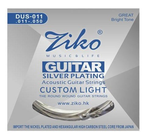 Ziko Custom Light Silver Plated Acoustic Guitar Strings