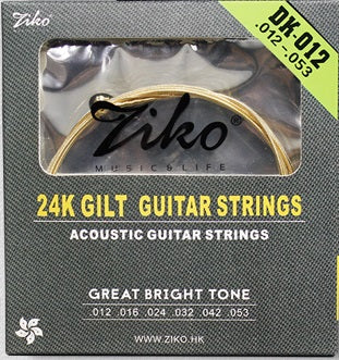 Ziko Light Gold Plated Acoustic Guitar Strings