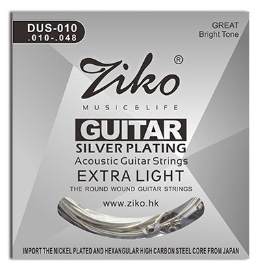 Ziko Extra Light Silver Plated Acoustic Guitar Strings