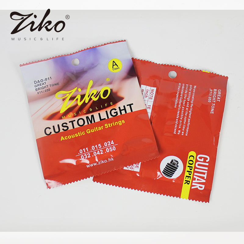 Ziko Custom Light Acoustic Guitar Strings