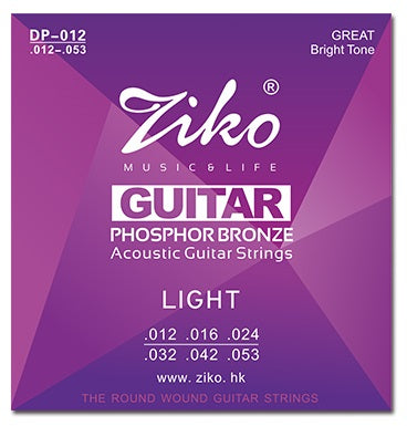 Ziko Light Phosphor Bronze Acoustic Guitar Strings