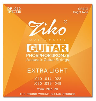 Ziko Extra Light Phosphor Bronze Acoustic Guitar Strings