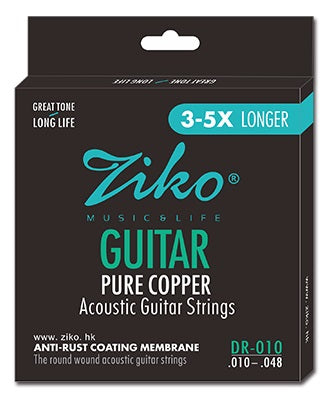 Ziko Extra Light Pure Copper Acoustic Guitar Strings