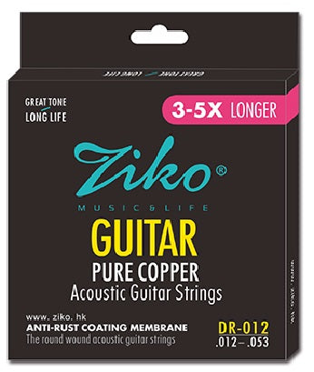 Ziko Light Pure Copper Acoustic Guitar Strings