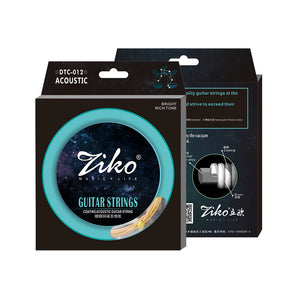 Ziko Light Bullet-End Brass Coated Acoustic Guitar Strings