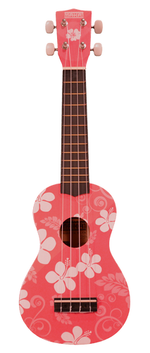 Makai Colored Soprano Ukulele w/ Flower Motif