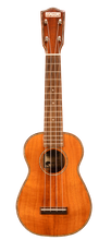 Load image into Gallery viewer, Makai MKU-24D Solid Flamed Koa Soprano Ukulele with Abalone Rosette