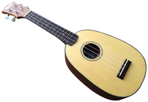 Makai MP-71 Spruce Mahogany Soprano Pineapple Ukulele with Black Binding
