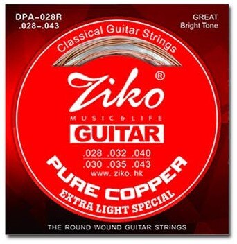 Ziko Extra Light Special Pure Copper Classical Guitar Strings
