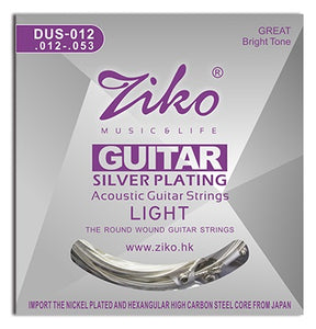 Ziko Light Silver Plated Acoustic Guitar Strings