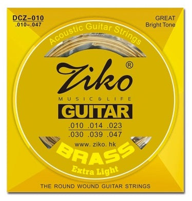 Ziko Extra Light Brass Acoustic Guitar Strings