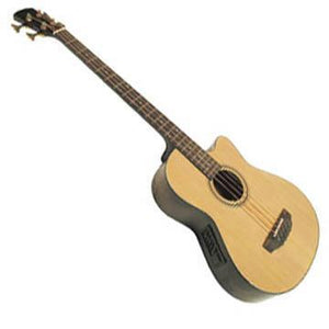 Guitars Acoustic Cutaway Bass Guitar with Electronics