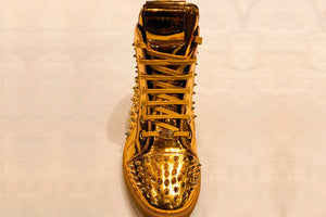 Gold High Top Sneakers