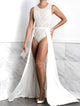 Isabel Painted Body White. BACCIO Miami Fashion Design. Hand made dresses