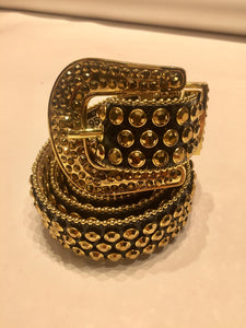 DNA PREMIUM WEAR 94 BLACK/GOLD CRYSTALS BELT