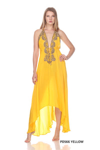 Jsquad PD566 Yellow Long Dress