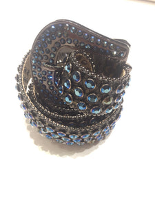 DNA PREMIUM WEAR 65 BLUE MONTANA CRYSTALS BELT