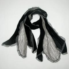 Black & Grey Scarf - Natasha Fabric