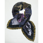 Purple Animal Print Scarf - Natasha Fabric