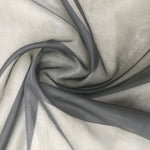 Organza Silk (Black) - Natasha Fabric