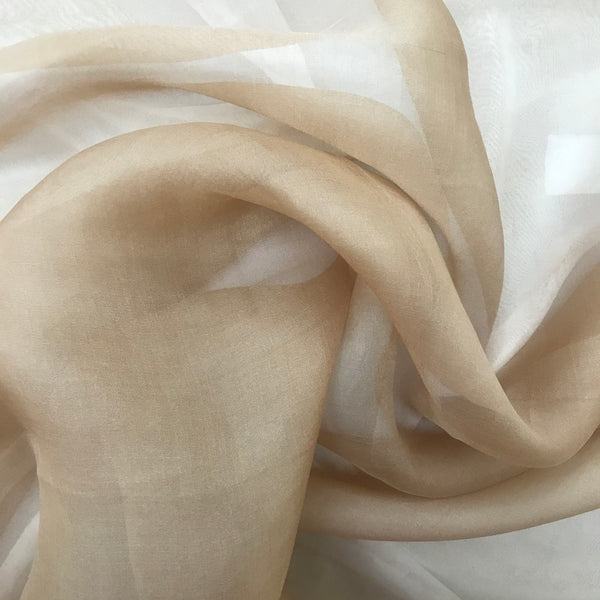 Organza Silk (Dark Gold) - Natasha Fabric