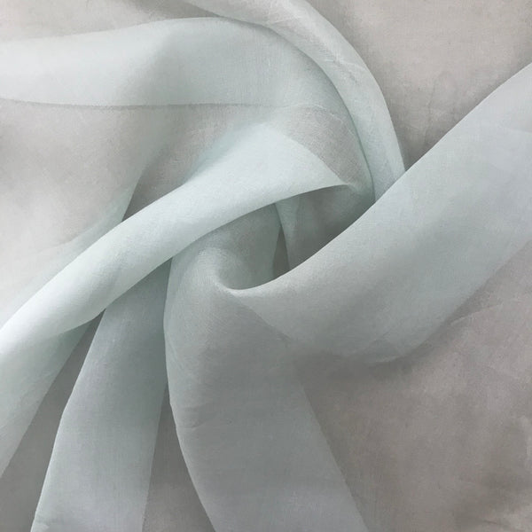 Organza Silk (Mint) - Natasha Fabric