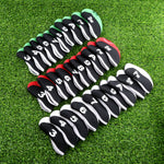 Neoprene Transparent Golf Club Iron Head Covers (10 Pieces)