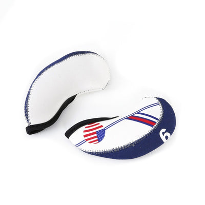 Nylon Golf Iron Club Head Covers US FLAG (10 Pcs)