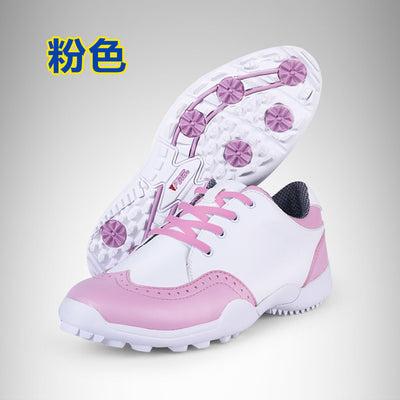 PGM Womens Golf Shoes - Microfiber, Leather, Waterproof.