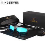 Men UV400 Polarized Sunglasses with Aluminum Magnesium Frame
