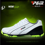 The new PGM head layer cowhide Golf shoes skid men sports shoes patent Lightweight Waterproof freeshipping