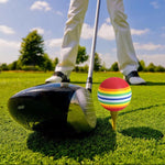 Rainbow Stripe Foam Sponge Golf Balls - 20Pcs