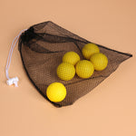 Black Nylon Mesh Golf ball Storage Bag