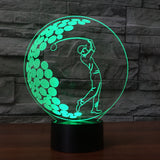 3D Illusion Night LED Light with 7 colors