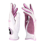 PGM Women's Lambskin Breathable Non-slip Golf Glove Pink/Blue