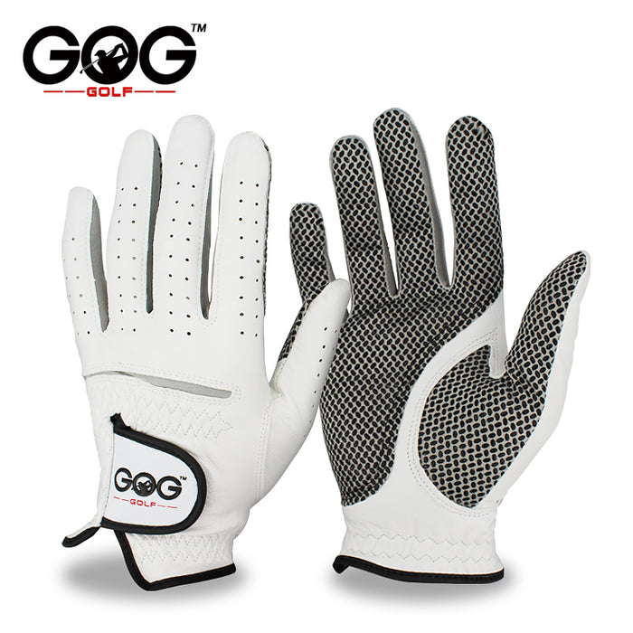 Men's Soft Breathable Genuine Leather Golf Gloves.