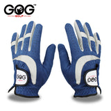 GOG Men's Microber Breathable Golf Gloves With Soft Blue Fabric.
