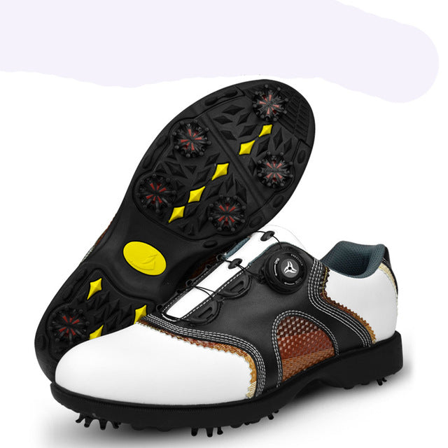 Men's Golf Shoes with Automatic Revolving Spikes