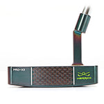 Herrick Men's PRO-X3 CNC Forged Steel Putter (PVD Black) With Steel Shaft.