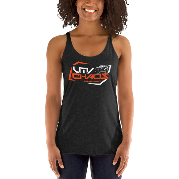 Women's Orange UTV Racerback Tank