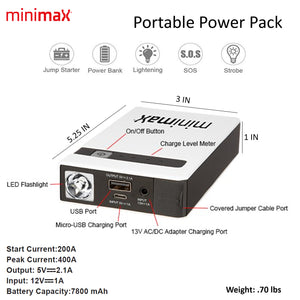 Exclusive Web Only DELUXE Offer - MiniMax™ Portable Charger, Vinyl Case & Wall Charger