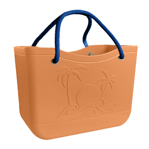 SunBagg in Coral. Waterproof, Multi-purpose, Beach Bag, Pool, Boat, Travel Tote, Like Bogg Bag. Liner included.